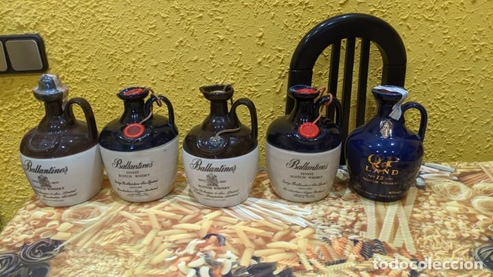 Antigüedades: whisky canecos año 1990-2000 todos llenos. - Foto 3 - 182034123
