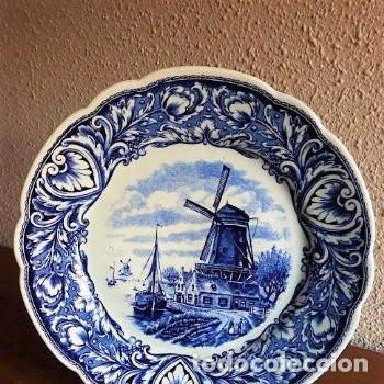 HERMOSO PLATO ANTIGUO DELFTS MAASTRICH BY PETRUS REGOUT MADE IN HOLLAND DE 25 CM DE DIAMETRO (Antigüedades - Porcelana y Cerámica - Holandesa - Delft)