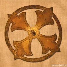 Antigüedades: GRAN CORONA DE IMAGEN, FIGURA, SANTO, VIRGEN DE 17 CMS DE DIÁMETRO. Lote 182044210