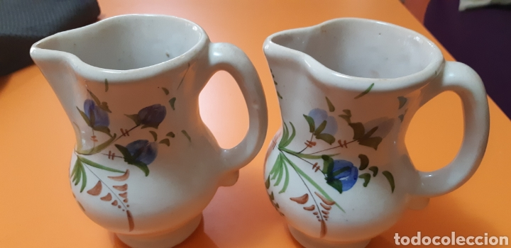 2 JARRITAS DE CERAMICA LARIO (Antigüedades - Porcelanas y Cerámicas - Lario)