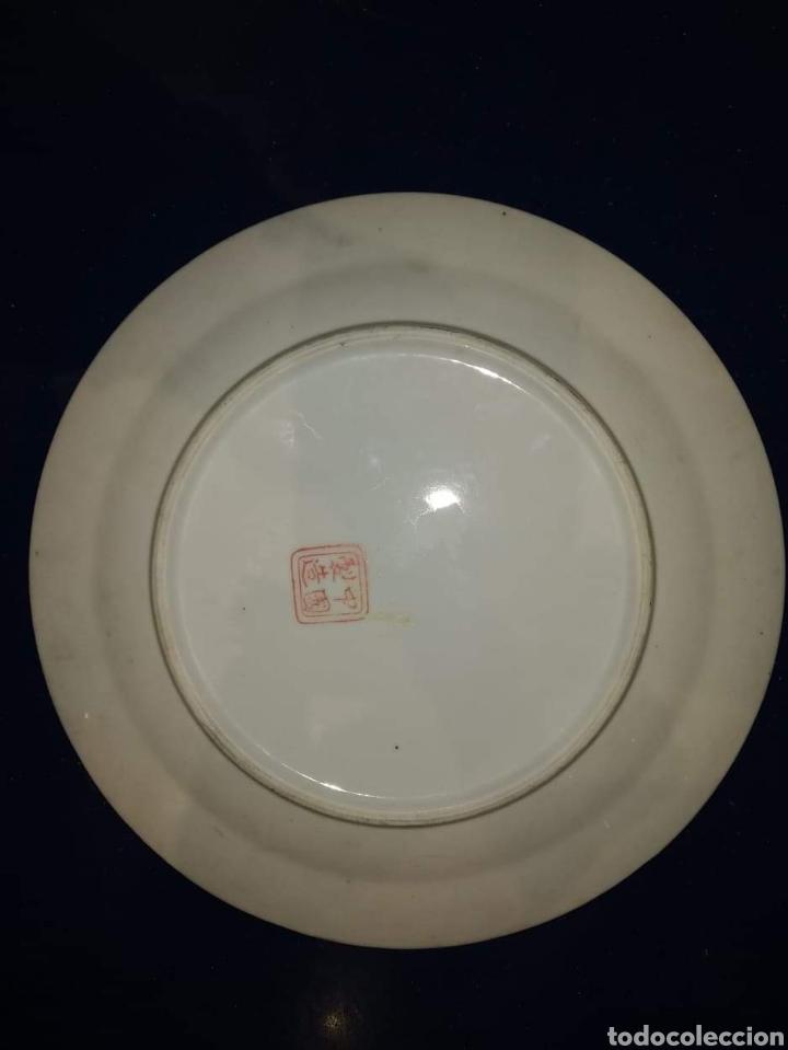 Antigüedades: Plato chino ecloisone - Foto 2 - 182061852