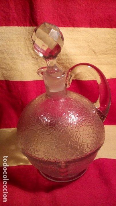 BOTELLA - DECANTADOR - MODERNISTA . (Antigüedades - Cristal y Vidrio - Catalán)