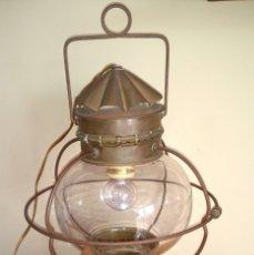 Oggetti Antichi: ANTIGUO QUINQUE TRANSFORMADO EN LAMPARA. Lote 182071620