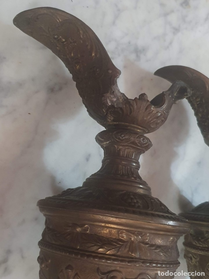 Antigüedades: Pareja de candeladros muy antiguos ver fotos para ver estado - Foto 37 - 182075351