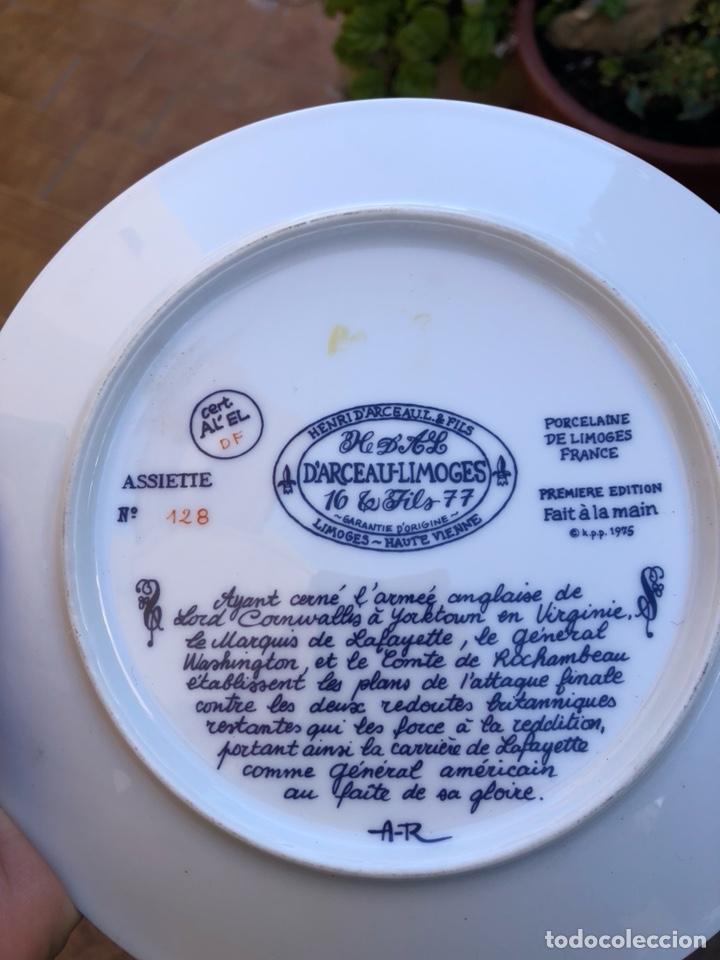 Antigüedades: Lote de 2 platos porcelana de limoges, numerada - Foto 6 - 182077306