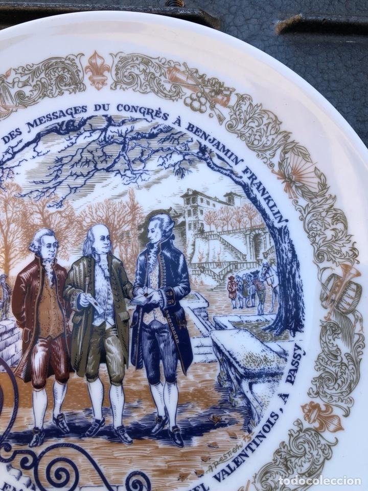 Antigüedades: Lote de 2 platos porcelana de limoges, numerada - Foto 9 - 182077306