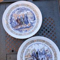 Antigüedades: LOTE DE 2 PLATOS PORCELANA DE LIMOGES, NUMERADA. Lote 182077306