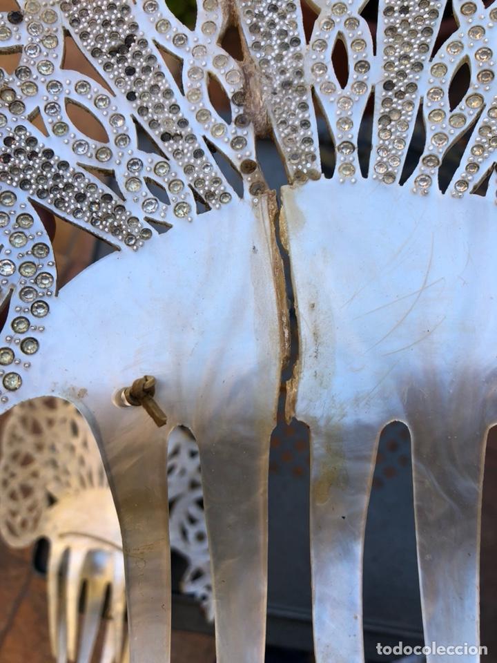 Antigüedades: Lote de 4 peinetas para restaurar - Foto 13 - 182078163