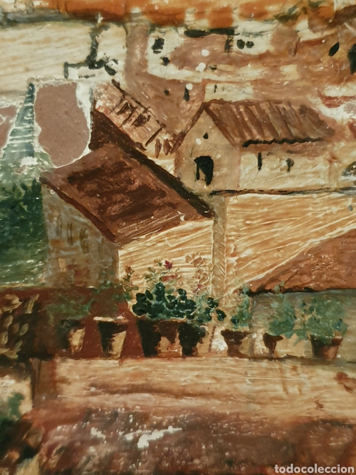Antigüedades: PRECIOSO PLATO PINTADO Y FIRMADO CON VISTAS AL PUENTE DE TRIANA Y LA GIRALDA DE SEVILLA - Foto 5 - 182080885