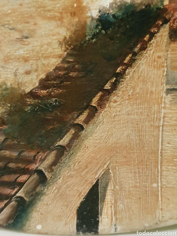 Antigüedades: PRECIOSO PLATO PINTADO Y FIRMADO CON VISTAS AL PUENTE DE TRIANA Y LA GIRALDA DE SEVILLA - Foto 6 - 182080885