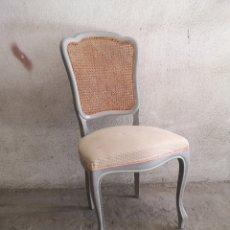 Antigüedades: SILLA INGLESA. CON RESPALDO DE REJILLA . Lote 182081395