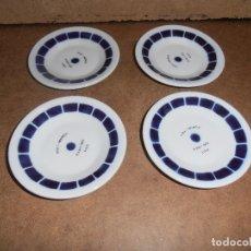 Antigüedades: LOTE 4 PLATOS SARGADELOS - TIPO CAFE - VER FOTOS - LEER. Lote 182093388