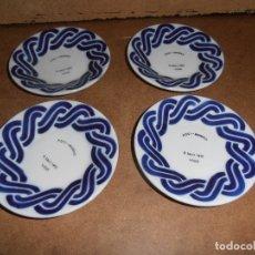 Antigüedades: LOTE 4 PLATOS SARGADELOS - TIPO CAFE - VER FOTOS - LEER. Lote 182093535