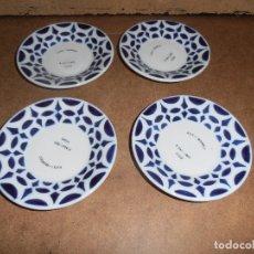 Antigüedades: LOTE 4 PLATOS SARGADELOS - TIPO CAFE - VER FOTOS - LEER. Lote 182093631
