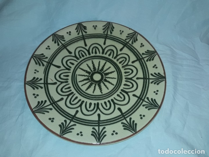 Antigüedades: Bello antiguo plato cerámica Juan Bertrán Iberia Barcelona 85 - Foto 2 - 182094457