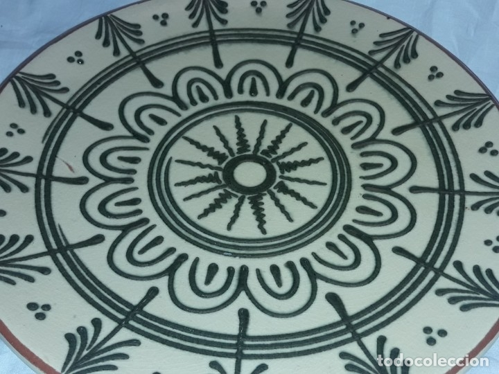 Antigüedades: Bello antiguo plato cerámica Juan Bertrán Iberia Barcelona 85 - Foto 5 - 182094457