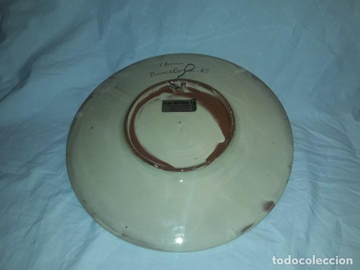 Antigüedades: Bello antiguo plato cerámica Juan Bertrán Iberia Barcelona 85 - Foto 7 - 182094457