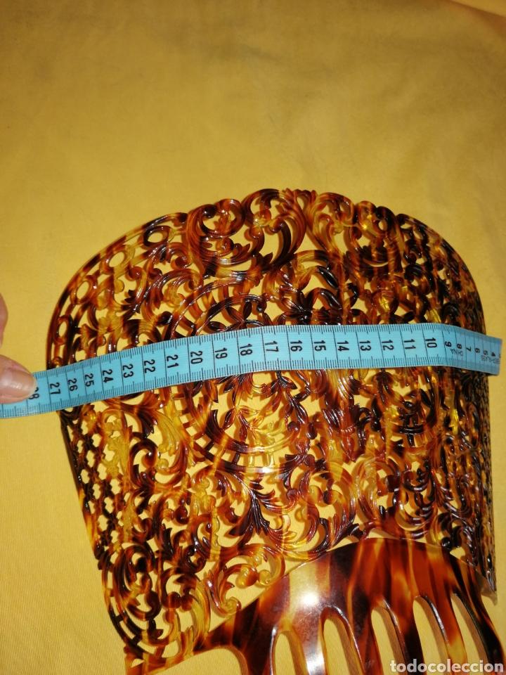 Antigüedades: Preciosa y finisima peina tallada a mano - Foto 4 - 182110512