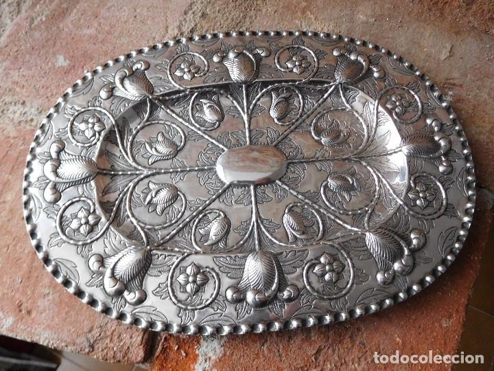 BANDEJA ANTIGUA DE PLATA 916 EMILIO BACARIZA (Antigüedades - Platería - Plata de Ley Antigua)
