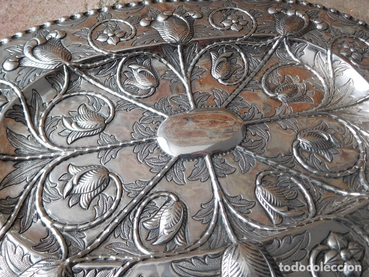 Antigüedades: Bandeja antigua de plata 916 Emilio Bacariza - Foto 3 - 182114518