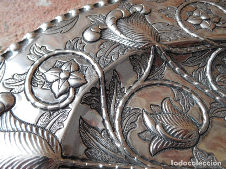Antigüedades: Bandeja antigua de plata 916 Emilio Bacariza - Foto 4 - 182114518