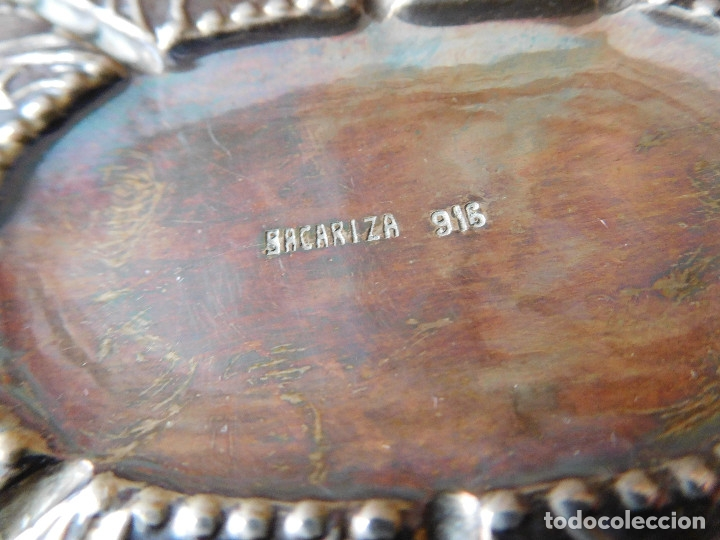 Antigüedades: Bandeja antigua de plata 916 Emilio Bacariza - Foto 6 - 182114518