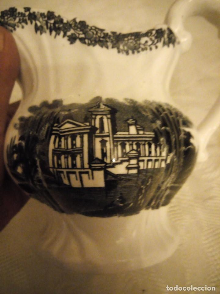 Antigüedades: ANTIGUA JARRA EN LOZA CARTUJA PICKMAN SEVILLA, DECORADA EN NEGRO - Foto 6 - 182119470