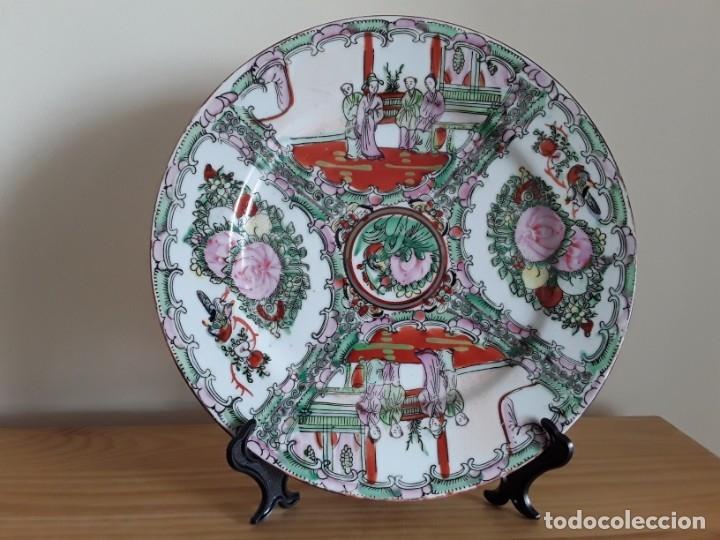 PLATO DE PORCELANA CHINA (Antigüedades - Porcelanas y Cerámicas - China)