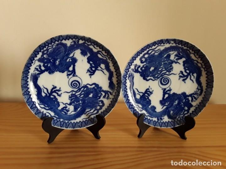 PLATOS DE PORCELANA CHINA (Antigüedades - Porcelanas y Cerámicas - China)