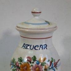 Antigüedades: BOTE DE COCINA - TARRO AZUCAR - CERAMICA CARRASCO P.AR.. Lote 182136141