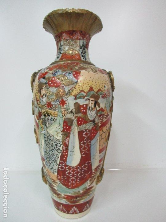 ANTIGUO JARRÓN SATSUMA - PORCELANA MEIJI (1868-1912) JAPÓN (Antigüedades - Porcelana y Cerámica - Japón)