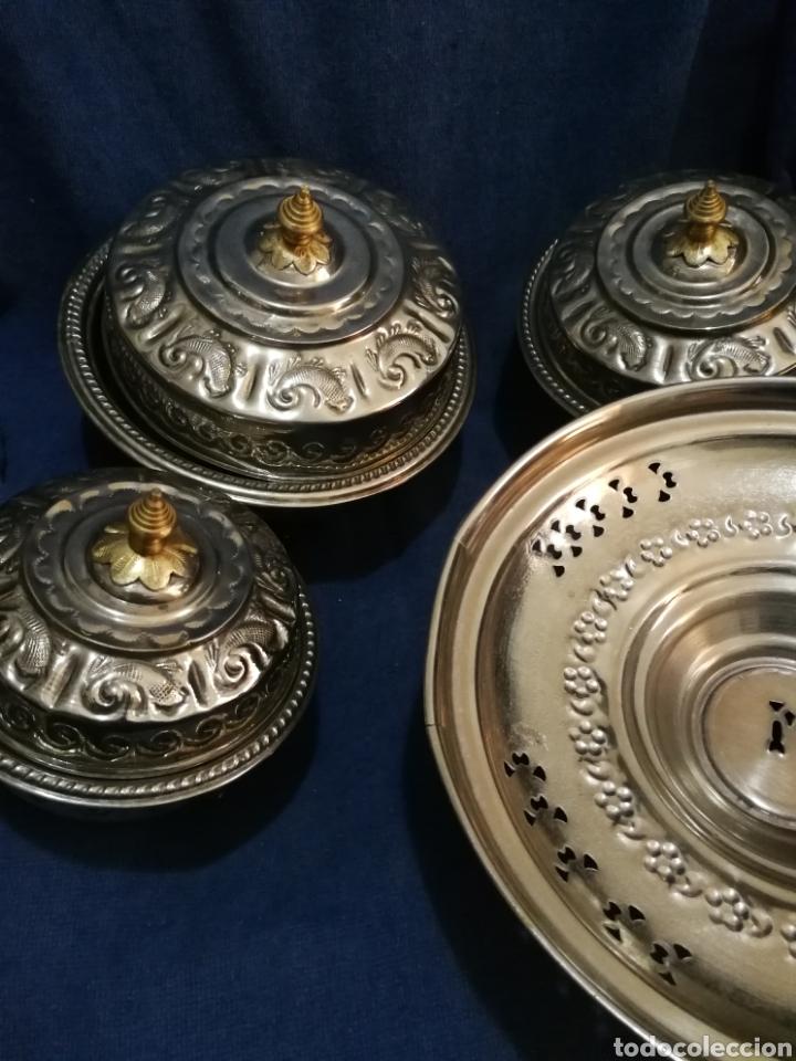 Antigüedades: Frutero y recipientes frutos secos pastas arabe - Foto 2 - 182144545