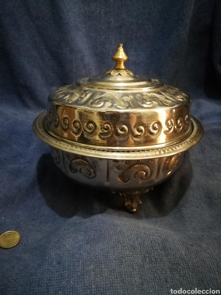 Antigüedades: Frutero y recipientes frutos secos pastas arabe - Foto 3 - 182144545