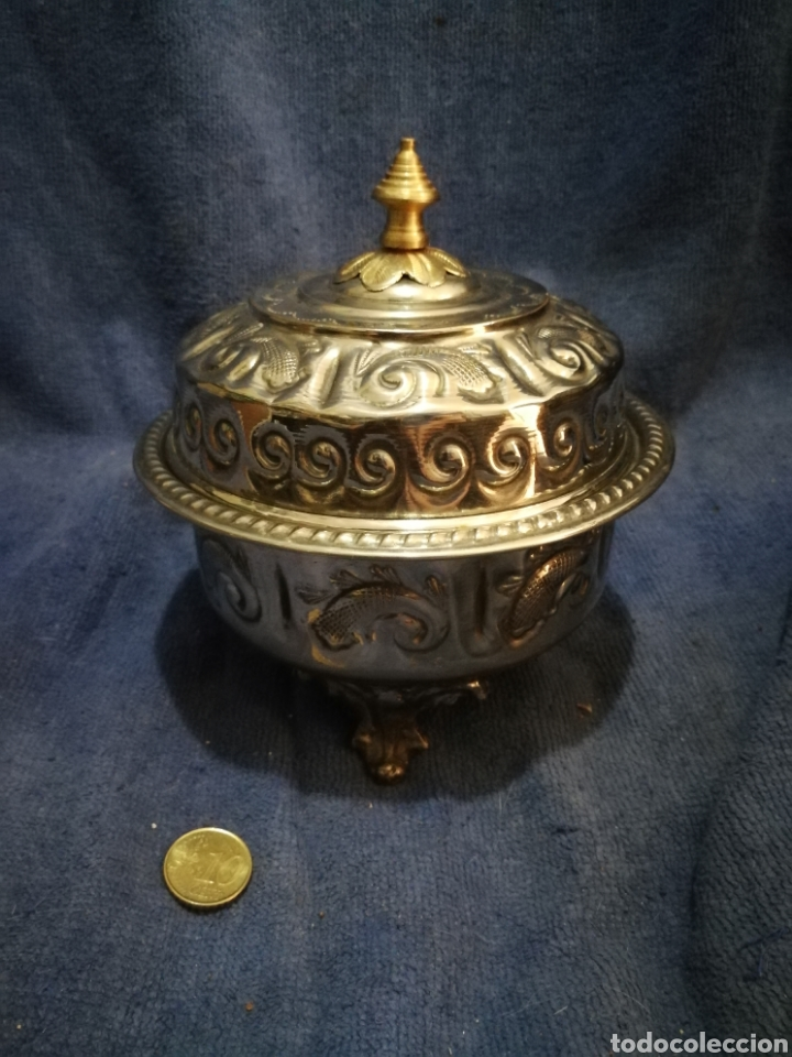 Antigüedades: Frutero y recipientes frutos secos pastas arabe - Foto 7 - 182144545