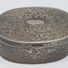 Antigüedades: PEQUEÑO JOYERO EN METAL PLATEADO ( PRINCIPIOS SIGLO XX ). Lote 182146646
