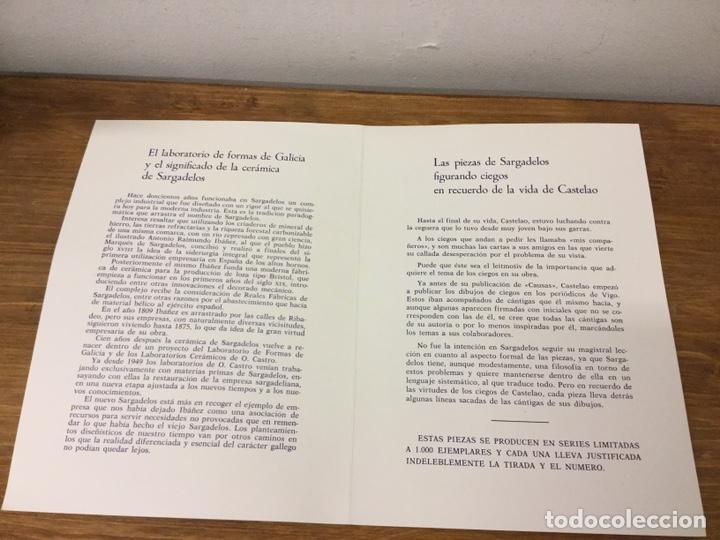 Antigüedades: SARGADELOS -FIGURA SERIE MÚSICO CIEGO DE CASTELAO- LIMITADA Y NUMERADA- CON CAJA Y DOCUMENTACION - Foto 11 - 182149820
