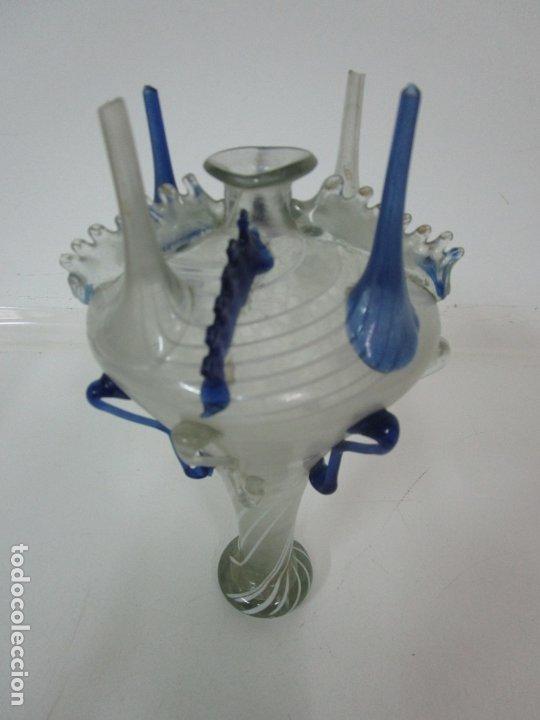 Antigüedades: Preciosa Almorratxa, Almarraja - Cataluña - Vidrio Soplado con Hilos de Lacticinios - S. XVIII-XIX - Foto 6 - 182150208