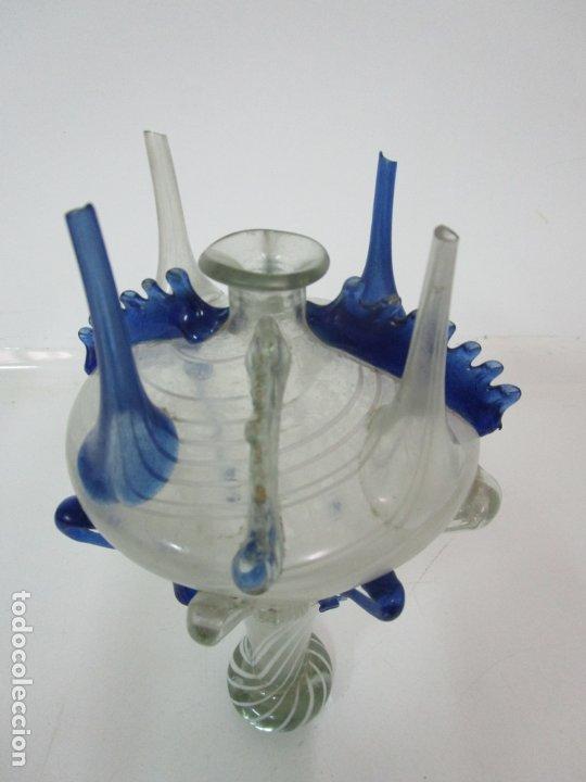 Antigüedades: Preciosa Almorratxa, Almarraja - Cataluña - Vidrio Soplado con Hilos de Lacticinios - S. XVIII-XIX - Foto 13 - 182150208