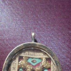 Antigüedades: ANTIGUO RELICARIO S. XVIII - XIX - S. SEBASTIANI M. S. ELISABETH M. PVCE. S. MARGARITAE D.C. S. CATH. Lote 182151915