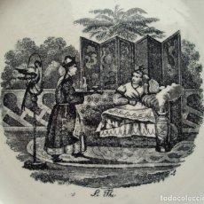 Antigüedades: LE THE. PLATO DE LOZA.. Lote 182158692