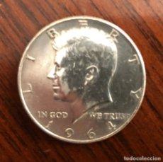 Antigüedades: MONEDA EN PLATA DE LEY , ESTADOS UNIDOS USA , HALF DOLLAR ( 1/2 DÓLAR ) 1.964 KENNEDY . Lote 182163575