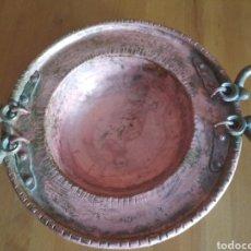 Antigüedades: BRASERO DE COBRE. Lote 182172928