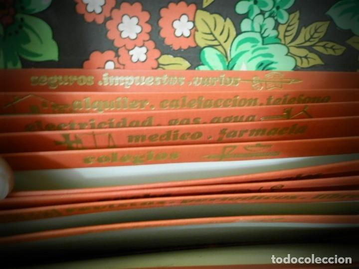 Antigüedades: BOLSO, CARTERA CLASIFICADORA ANTIGUO VINTAGE ESTAMPADO ORIGINAL AÑOS 70 FLOREADO - Foto 5 - 182200451