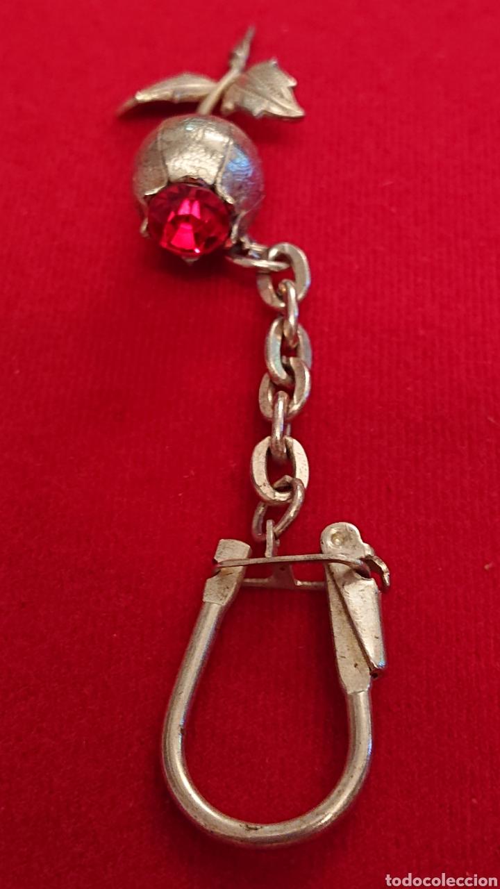 Antigüedades: Bonito llavero plata de ley con una rosa - Foto 3 - 182218793