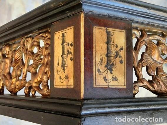Antigüedades: PRECIOSA GALERÍA DE BARGUEÑO – MADERA – BRONCE – HUESO – FAUNOS – ROLEOS – ÁGUILAS - CORREDOR - Foto 6 - 182220936