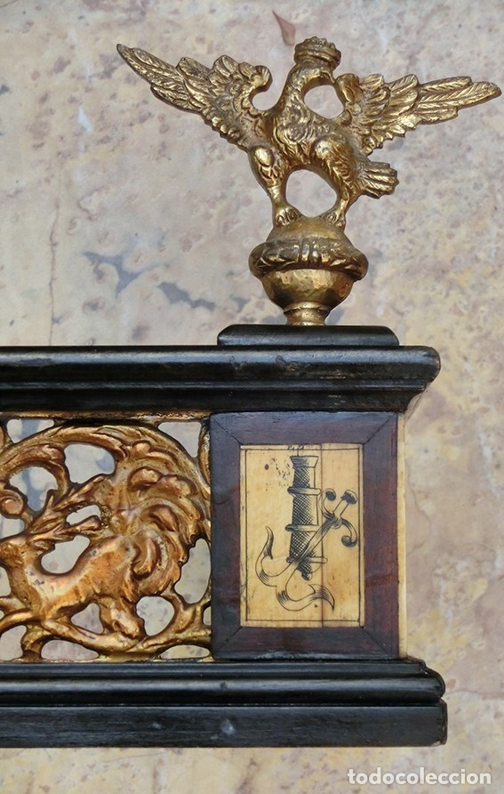 Antigüedades: PRECIOSA GALERÍA DE BARGUEÑO – MADERA – BRONCE – HUESO – FAUNOS – ROLEOS – ÁGUILAS - CORREDOR - Foto 17 - 182220936