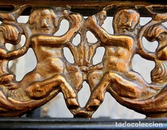 Antigüedades: PRECIOSA GALERÍA DE BARGUEÑO – MADERA – BRONCE – HUESO – FAUNOS – ROLEOS – ÁGUILAS - CORREDOR - Foto 19 - 182220936