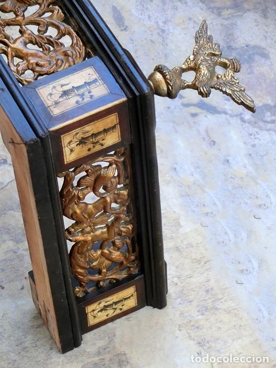 Antigüedades: PRECIOSA GALERÍA DE BARGUEÑO – MADERA – BRONCE – HUESO – FAUNOS – ROLEOS – ÁGUILAS - CORREDOR - Foto 20 - 182220936