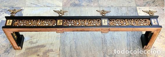 Antigüedades: PRECIOSA GALERÍA DE BARGUEÑO – MADERA – BRONCE – HUESO – FAUNOS – ROLEOS – ÁGUILAS - CORREDOR - Foto 25 - 182220936
