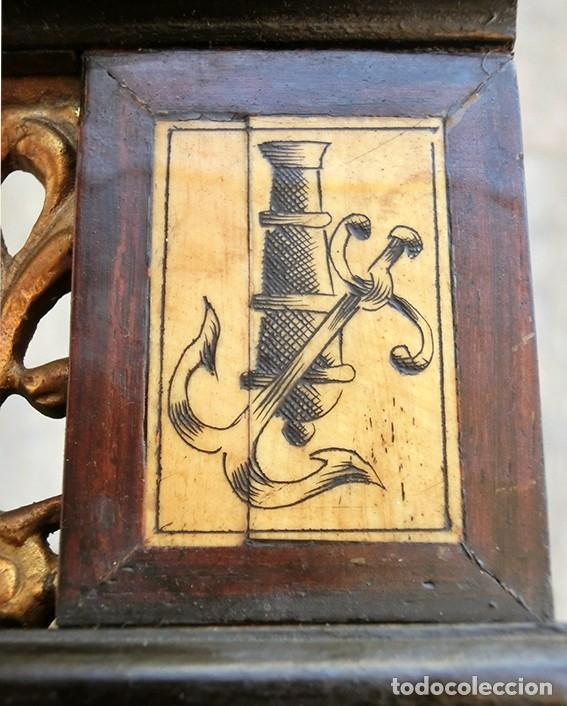 Antigüedades: PRECIOSA GALERÍA DE BARGUEÑO – MADERA – BRONCE – HUESO – FAUNOS – ROLEOS – ÁGUILAS - CORREDOR - Foto 32 - 182220936